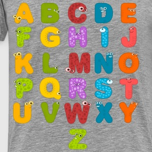 Alphabet Letters - Men's Premium T-Shirt