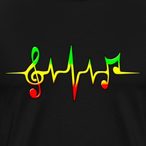 REGGAE MUSIC, NOTE, PULSE, FREQUENCY, CLEF T-Shirts - Men's Premium T-Shirt