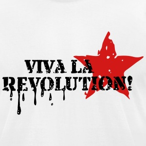 VIVA LA REVOLUTION, CUBA, RED STAR, ANARCHY, PUNK T-Shirts - Men's T-Shirt by American Apparel