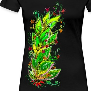 JUNGLE FLOWER, RAIN FOREST, NATURE, GREEN Women's T-Shirts - Women's Premium T-Shirt