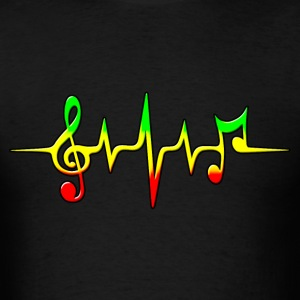 REGGAE MUSIC, NOTE, PULSE, FREQUENCY, CLEF T-Shirts - Men's T-Shirt