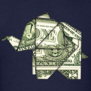 DOLLAR ELEPHANT, ORIGAMI, ANIMAL, MONEY T-Shirts - Men's T-Shirt