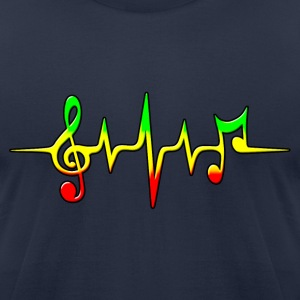 REGGAE MUSIC, NOTE, PULSE, FREQUENCY, CLEF T-Shirts - Men's T-Shirt by American Apparel