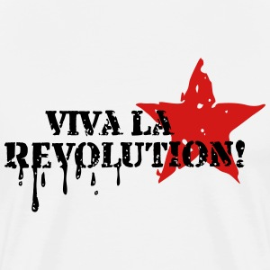 VIVA LA REVOLUTION, CUBA, RED STAR, ANARCHY, PUNK T-Shirts - Men's Premium T-Shirt