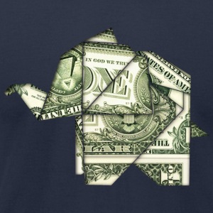 DOLLAR ELEPHANT, ORIGAMI, ANIMAL, MONEY T-Shirts - Men's T-Shirt by American Apparel