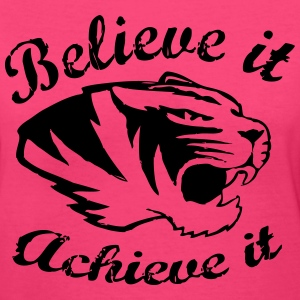 Believe it ~ Achieve it   GO TIGERS! - Women's V-Neck T-Shirt