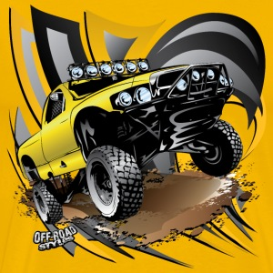 Baja Trophy Truck Yellow T-Shirts - Men's Premium T-Shirt