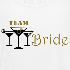 team bride cocktails with ring Tanks