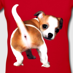 Cute Puppy - Women's V-Neck T-Shirt