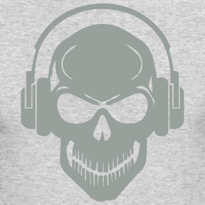 Skull with Headphones - Rave - Electro - Hardstyle Long Sleeve Shirts - Men's Long Sleeve T-Shirt by Next Level