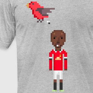 Bird pooping on Ashley Young - Men's T-Shirt by American Apparel