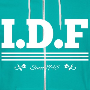 IDF Since 1948 - Unisex Fleece Zip Hoodie by American Apparel