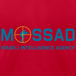 Mossad - Israeli Intelligence Agency - with Scope - Men's T-Shirt by American Apparel