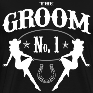 Old West Bachelor Party - GROOM Version - Men's Premium T-Shirt
