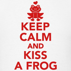 Keep calm and Kiss frog T-Shirts - Men's T-Shirt