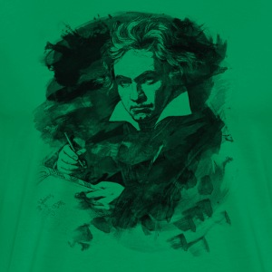 Ludwig van Beethoven - Abstract Watercolor Style T-Shirts - Men's Premium T-Shirt