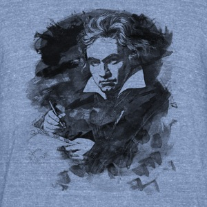 Ludwig van Beethoven - Abstract Watercolor Style T-Shirts - Unisex Tri-Blend T-Shirt by American Apparel