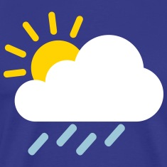 Weather cloud icon Shirt