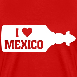 I Love Mexico Sierra Tequila Bottle Shirt - Men's Premium T-Shirt