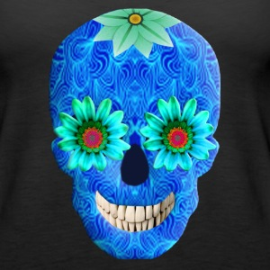 Blue Day Of The Dead Skull Tank Top - Women's Premium Tank Top