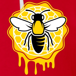 a bee and honeycomb Zip Hoodies & Jackets - Unisex Fleece Zip Hoodie by American Apparel