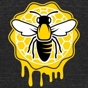 a bee and honeycomb T-Shirts - Unisex Tri-Blend T-Shirt by American Apparel