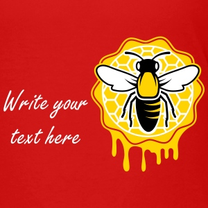 a bee and honeycomb Kids' Shirts - Kids' Premium T-Shirt