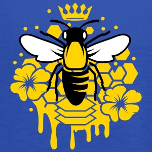 A bee with a crown Tanks - Women's Flowy Tank Top by Bella