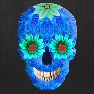 Blue Day Of The Dead Skull Tote Bag - Tote Bag