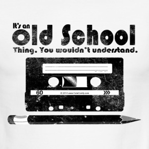 Old School Thing Cassette Retro 80s T-Shirts - Men's Ringer T-Shirt