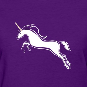 White Unicorn Jumping Women's T-Shirts - Women's T-Shirt