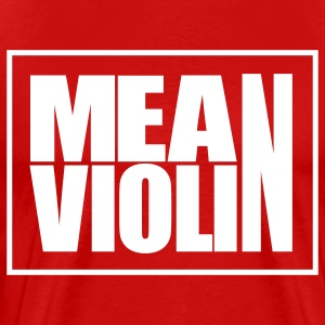 Mean Violin Logo T-Shirts - Men's Premium T-Shirt