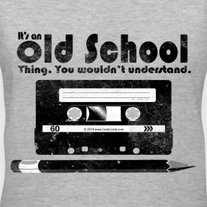 Old School Thing Cassette Retro 80s Women's T-Shirts - Women's V-Neck T-Shirt
