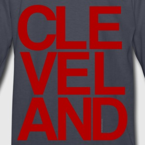 Cleveland Typographic Kids' Shirts - Kids' Long Sleeve T-Shirt