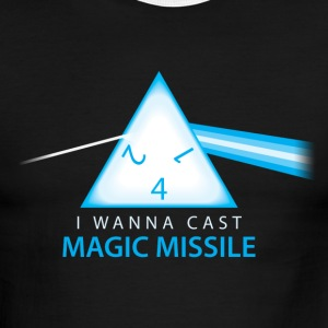 Dungeons & Dragons Pink Floyd d4 Magic Missile - Men's Ringer T-Shirt