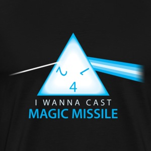 Dungeons & Dragons Pink Floyd d4 Magic Missile - Men's Premium T-Shirt