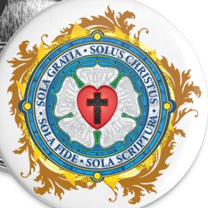 Luther Rose Lutheran Seal - Large Buttons