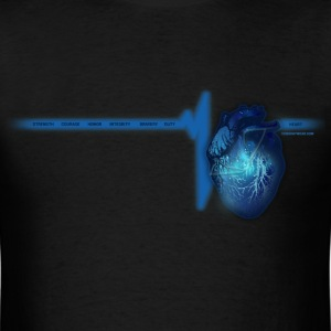 Police Heart TEW T-Shirts - Men's T-Shirt