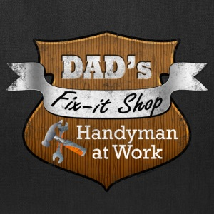 Funny Dad's Fix-It Shop Bags & backpacks - Tote Bag