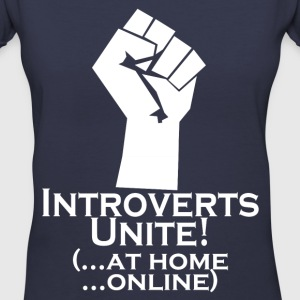 Introverts Unite At Home Women's T-Shirts - Women's V-Neck T-Shirt