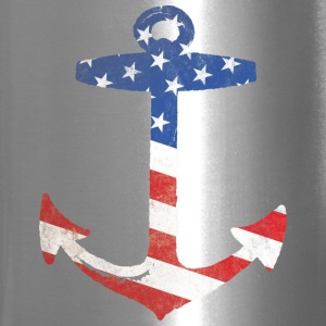 American Flag Anchor Bottles & Mugs - Travel Mug