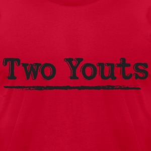 Two Youts  T-Shirts - Men's T-Shirt by American Apparel