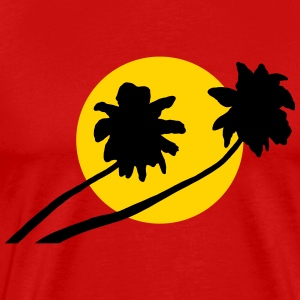 Palm trees in sunset - V2 T-Shirts - Men's Premium T-Shirt
