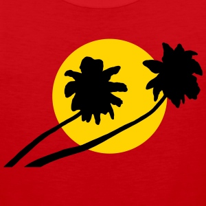 Palm trees in sunset - V2 Men - Men's Premium Tank