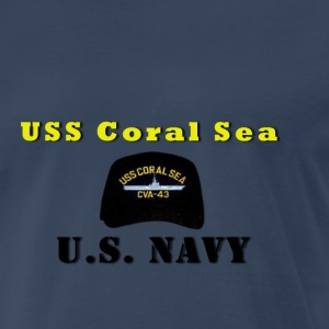 USS Coral Sea CV 43 Ball Cap Shirt - Men's Premium T-Shirt