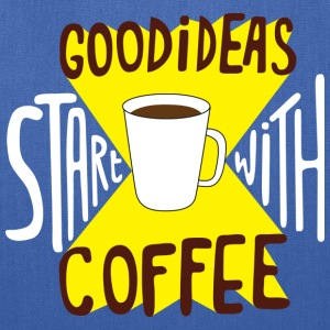 Good Ideas Start With Coffee Cute Funny clothing Bags & backpacks - Tote Bag