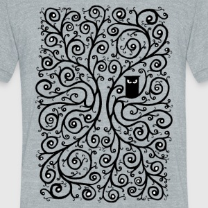 The Owl T-Shirts - Unisex Tri-Blend T-Shirt by American Apparel