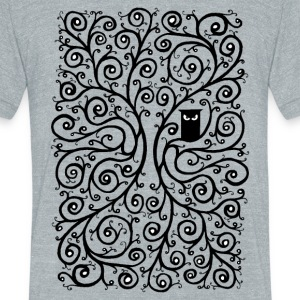 The Owl T-Shirts - Unisex Tri-Blend T-Shirt