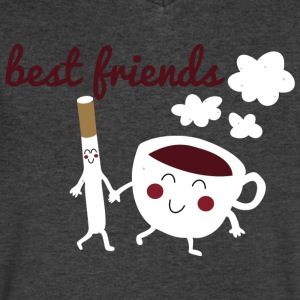 Best Friends Til The Very End Clothing Apparel T-Shirts - Men's V-Neck T-Shirt by Canvas