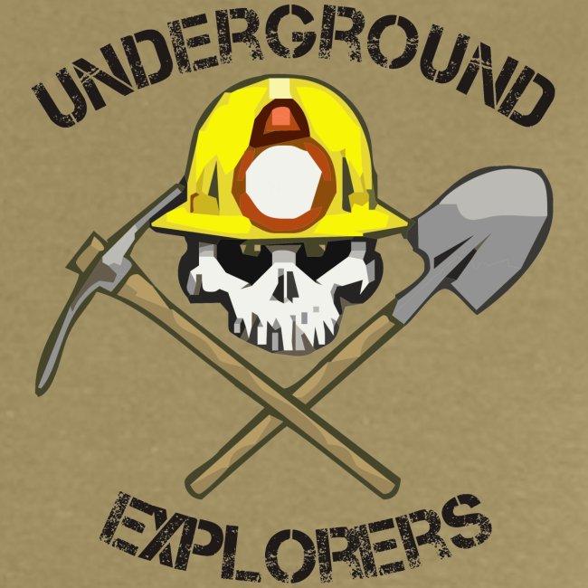 Underground Explorers Khaki Logo Tee